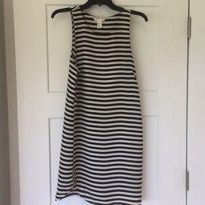 H&M striped black and white dress